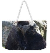 Grizzly Bears Fighting Weekender Tote Bag