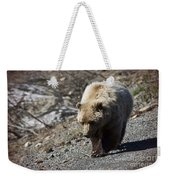 Grizzly By The Road Weekender Tote Bag