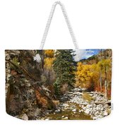Grizzly Creek Cottonwoods Vertical Weekender Tote Bag