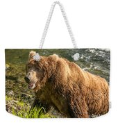 Grizzly On The River Bank Weekender Tote Bag