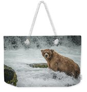 Grizzly Stare Weekender Tote Bag
