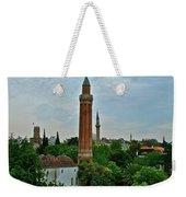 Grooved Minaret Fromthirteenth Century In Antalya-turkey Weekender Tote Bag