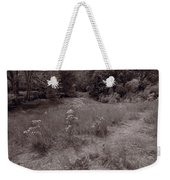 Gross Point Beach Grasses Bw Weekender Tote Bag