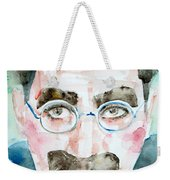 Groucho Marx Watercolor Portrait.1 Weekender Tote Bag