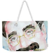 Groucho Marx Watercolor Portrait.2 Weekender Tote Bag by Fabrizio Cassetta