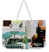 Group Of Furniture And Decorations In 1960 Colors Weekender Tote Bag