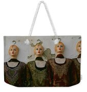 Group Of Mannequins In A Market Stall Weekender Tote Bag