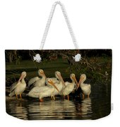 Group Of White Pelicans Weekender Tote Bag