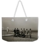 The Wright Brothers Group Portrait In Front Of Glider At Kill Devil Hill Weekender Tote Bag