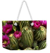 Grouping Of Cactus With Pink Flowers Weekender Tote Bag