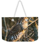 Grouse In An Apple Tree Weekender Tote Bag