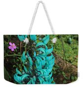 Growing Turquoise Weekender Tote Bag