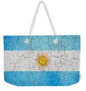 Grunge Argentina Flag Weekender Tote Bag