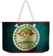 Grunge Belize Flag  Weekender Tote Bag