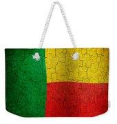 Grunge Benin Flag Weekender Tote Bag