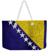 Grunge Bosnia And Hertzegoniva Flag Weekender Tote Bag