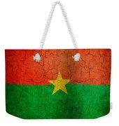 Grunge Burkina Faso Flag Weekender Tote Bag