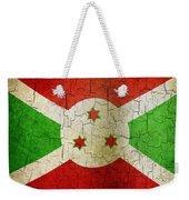 Grunge Burundi Flag Weekender Tote Bag