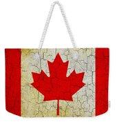 Grunge Canada Flag Weekender Tote Bag