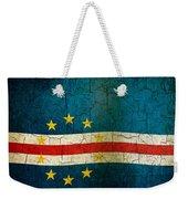 Grunge Cape Verde Flag Weekender Tote Bag