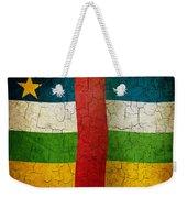 Grunge Central African Republic Flag Weekender Tote Bag