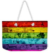 Grunge Colorful Wood Planks Background Weekender Tote Bag