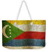 Grunge Comoros Flag Weekender Tote Bag