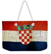 Grunge Croatia Flag Weekender Tote Bag