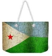 Grunge Djibouti Flag Weekender Tote Bag