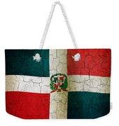Grunge Dominican Republic Flag Weekender Tote Bag