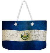 Grunge El Salvador Flag Weekender Tote Bag
