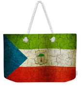Grunge Equatorial Guinea Flag Weekender Tote Bag