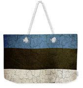 Grunge Estonia Flag Weekender Tote Bag