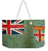 Grunge Fiji Flag Weekender Tote Bag