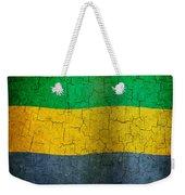 Grunge Gabon Flag Weekender Tote Bag