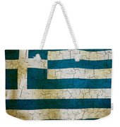 Grunge Greece Flag Weekender Tote Bag