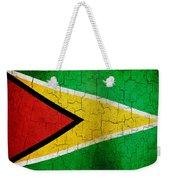 Grunge Guyana Flag Weekender Tote Bag
