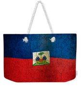 Grunge Haiti Flag  Weekender Tote Bag