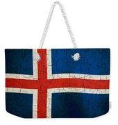 Grunge Iceland Flag Weekender Tote Bag