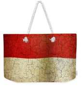 Grunge Indonesia Flag Weekender Tote Bag