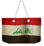 Grunge Iraq Flag Weekender Tote Bag