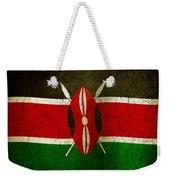 Grunge Kenya Flag Weekender Tote Bag