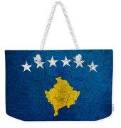 Grunge Kosovo Flag Weekender Tote Bag