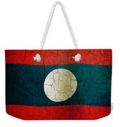 Grunge Laos Flag Weekender Tote Bag