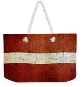 Grunge Latvia Flag Weekender Tote Bag