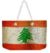 Grunge Lebanon Flag Weekender Tote Bag