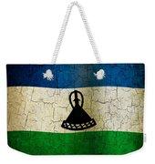 Grunge Lesotho Flag Weekender Tote Bag