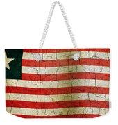 Grunge Liberia Flag Weekender Tote Bag