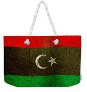 Grunge Libya Flag Weekender Tote Bag