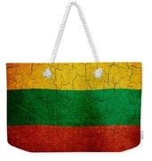 Grunge Lithuania Flag Weekender Tote Bag